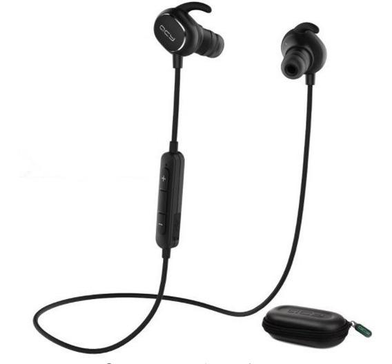 Fone De Ouvido Qcy Qy19 Sem Fio Bluetooth 5.0 Sweatproof