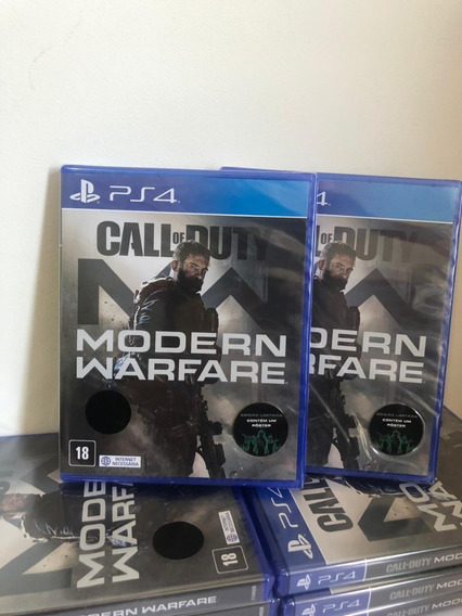 Call Of Duty Modern Warfare Ps4 Mídia Física Com Poster