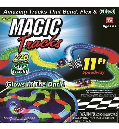 Pista Carreras Magic Track Brilla En La Oscuridad Con Envio