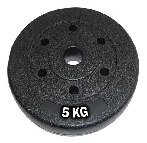 Disco 5kg Revestido Pesa P/ Mancuerna Barra No Oxida- El Rey