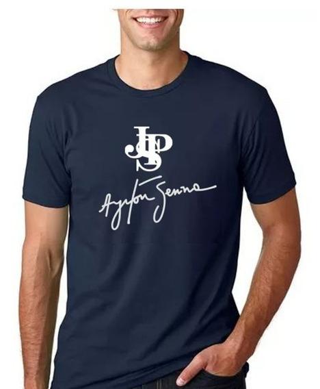 Camiseta Ayrton Senna John Player Special Algodão Camisa