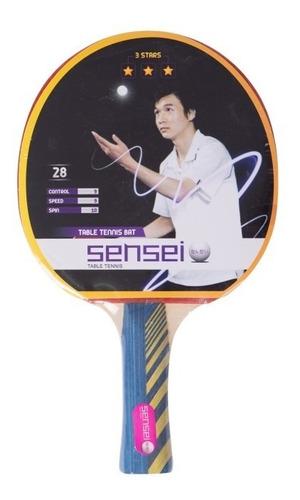 Paleta De Ping Pong Sensei 3 Estrellas Raqueta Tenis De Mesa