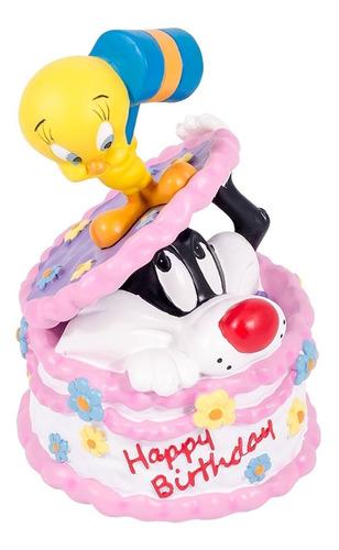 Caja Musical Looney Tunes Feliz Cumpleaños Silvestre  Piolin