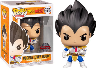 Funko Pop Vegeta #676 Over 9000! Exclusive Dragon Ball Z