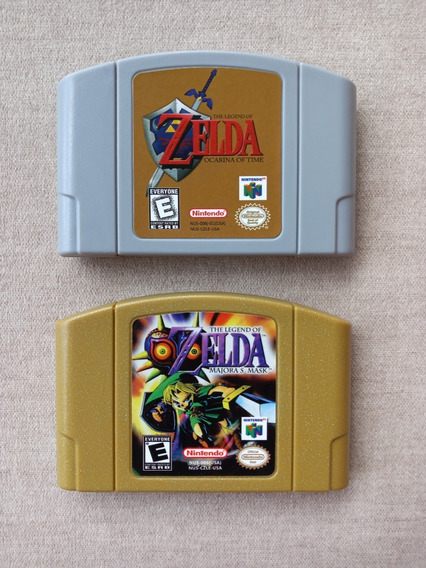 N64 Zelda Ocarina Of Time + Zelda Majoras Mask Nintendo 64
