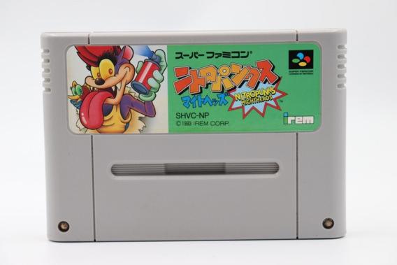 Jogo Nitro Punks Might Heads Original Super Famicom Nintendo