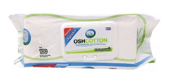 Toalla Humeda Biodegradable Osh Cotton 100pzas