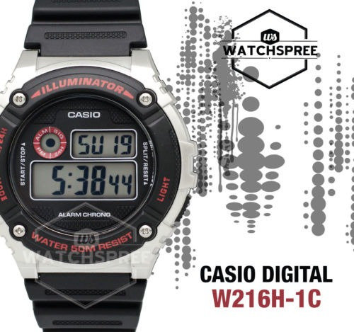 Imagen 1 de 4 de Estándar De Casio Reloj Digital W216h - 1c