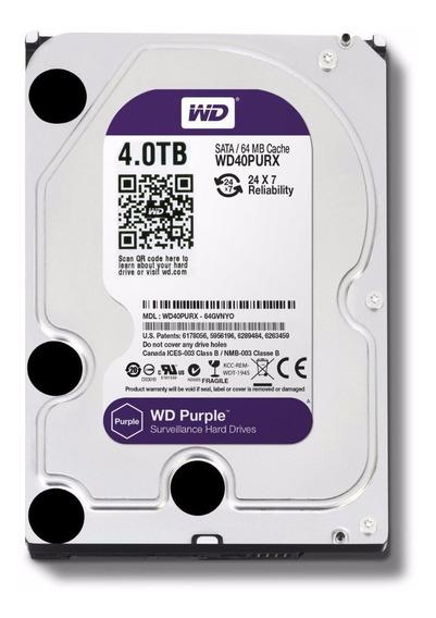 Disco Rigido 4tb Western Digital Purple Dvr Seguridad Sata