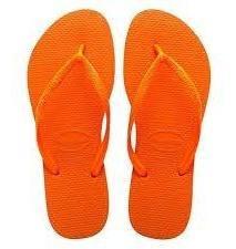 Ojotas Havaianas X 12 Pares!! Modelo Slim Naranja