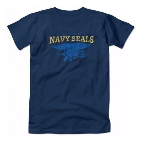 Camiseta Estampada Navy Seals Azul Lançamento
