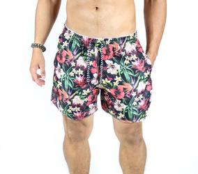 4d40a7acd2 Short Masculino Praia Curto Colorido Estampa Moda Verão 2019