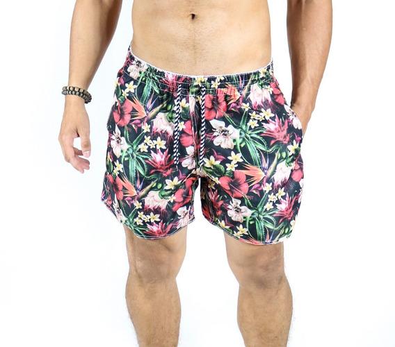 Short Masculino Praia Curto Colorido Estampa Moda Verão