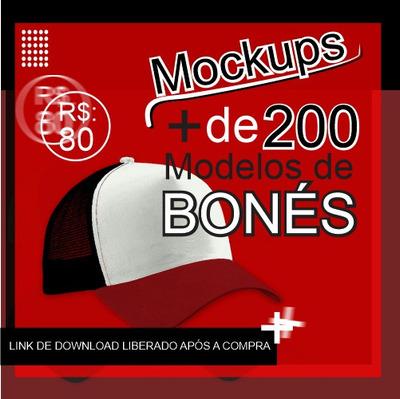Mockup Boné Americano Com +de 200 Exemplares