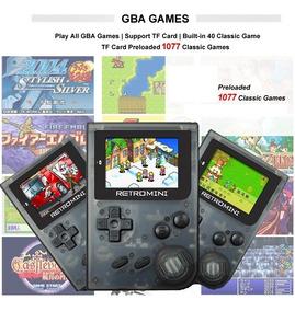 Gameboy Advance Retro Mini Gba Todos Jogos Cartão Microsd