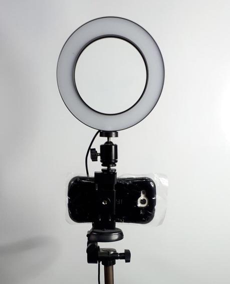 Aro De Luz Para Maquillaje + Tripode Para Camara O Celular 5