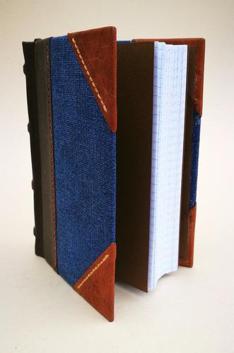 Cuaderno Artesanal De Tapas Duras De Estilo Bluejean.