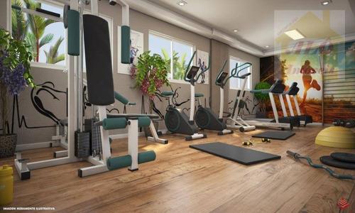 Apartamento Com 2 Dormitórios À Venda, 54 M² Por R$ 253.258,00 - Vila Guilhermina - Praia Grande/sp - Ap3647