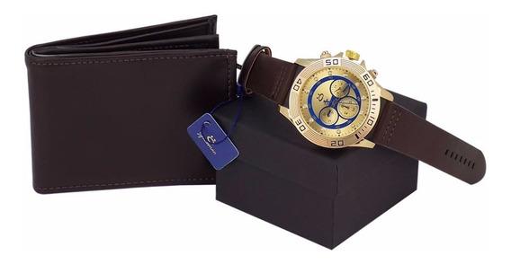 Relógios Masculino Original Promoção + Carteira Couro