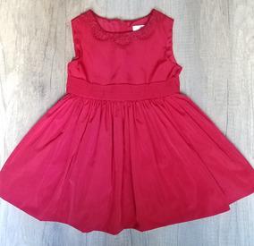 9ff538dbe Vestido Rojo Bebe Niña Talla 18 A 24 Meses Boutique American