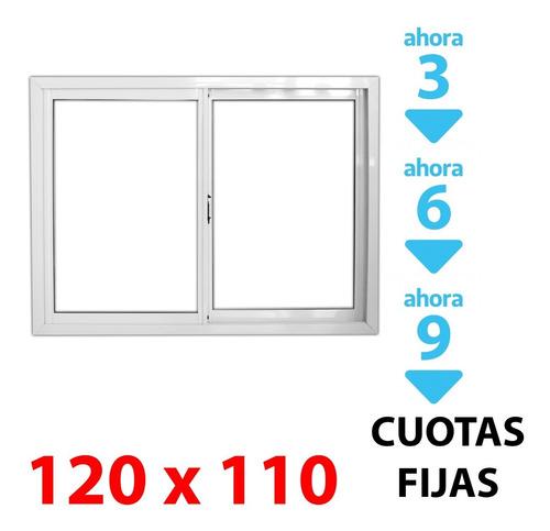 Imagen 1 de 5 de Ventana Corrediza Alum 120x110cm