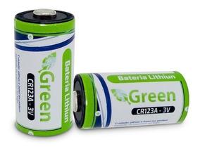 Kit 2 Bateria Pilha Sensor Lithiun Photo Green Cr123a 3v