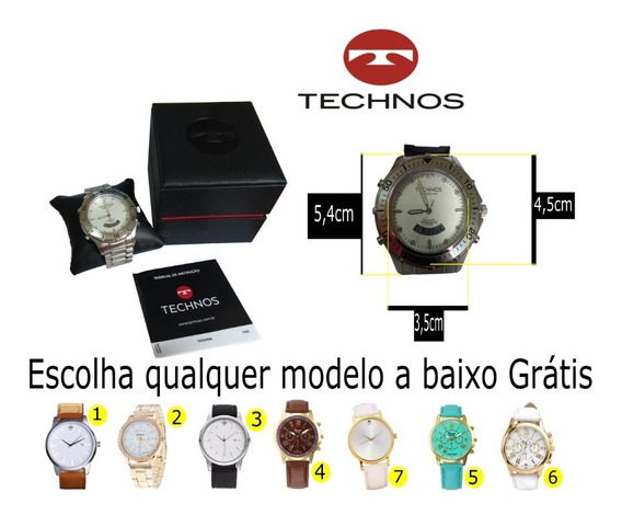 Relógio Technos Profissional Skydiver +brinde/frete Grátis
