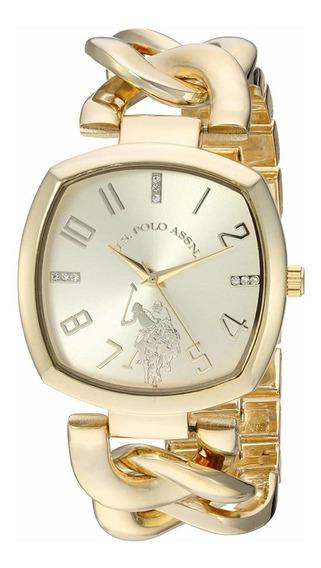 Reloj Dama Mujer Dorado Us. Polo Original Usc40250az