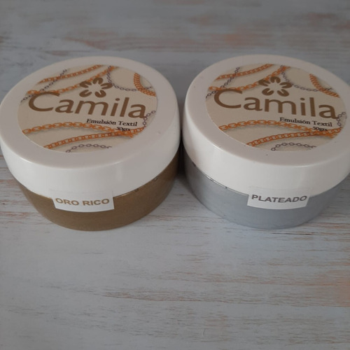 Camila - Línea Shimmer: Emulsión Textil 50cc
