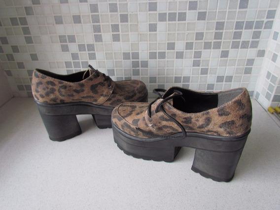 Ricky Sarkany Abotinado Zapatos Cordones Mujer Plataforma