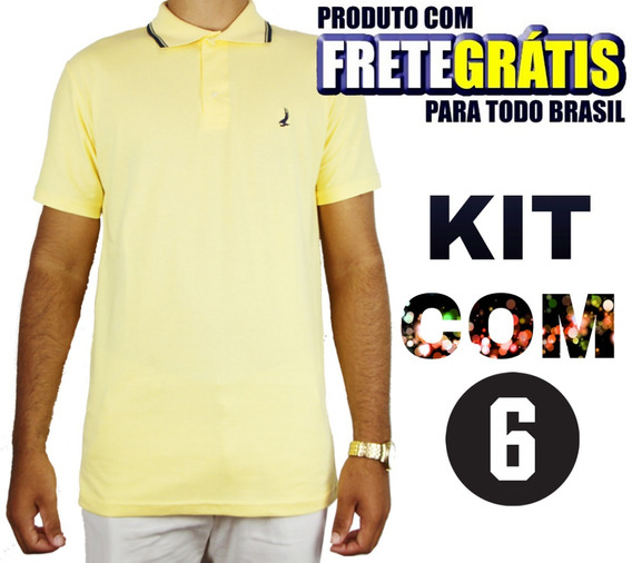 Kit 06 Camisas Polo Masculinas Blusas No Atacado Revenda