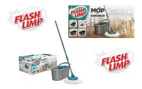 Mop Giratorio Fit Esfregão Balde Spin Flash Limp - Original