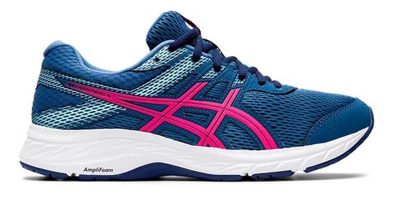 Zapatillas Asics Gel Contend 6 Azul/fucsia - Mujer Running