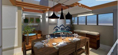 Cobertura Com 2 Dormitórios À Venda, 86 M² Por R$ 320.000,00 - Vila Junqueira - Santo André/sp - Co0463