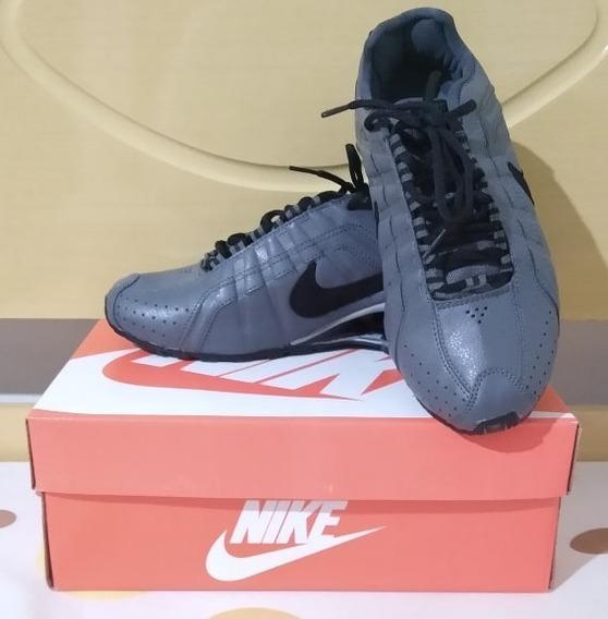Tenis Nike Shox Junior Cinza E Preto Nº37 Original Na Caixa!