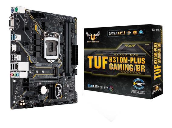 Placa Mãe Asus Tuf H310m-plus Gaming/br, Chipset H310, Intel Lga 1151, Matx, Ddr4 - Coffee Lake