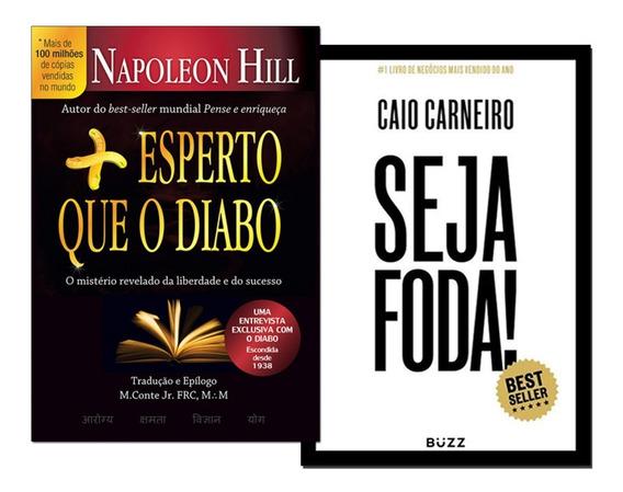 Livro Seja Foda! + Mais Esperto Que O Diabo - Envio Rápido