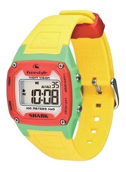 Relógio Pulso Freestyle Shark Classic Amarelo Verde Vermelho