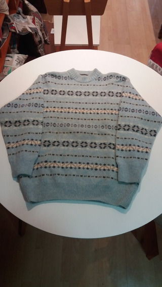 Abrigo De Lana Sweater Color Celeste