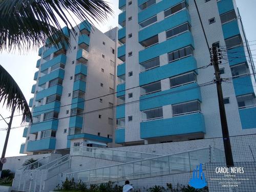 3940 Apartamento 2 Dormitórios Frente Para O Mar Mongaguá