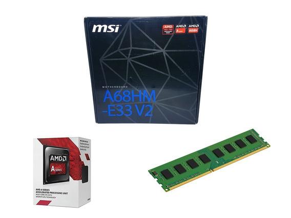 Kit Upgrade Placa Mãe Msi Fm2 + Processador A6 7480 + 8gb Ddr3