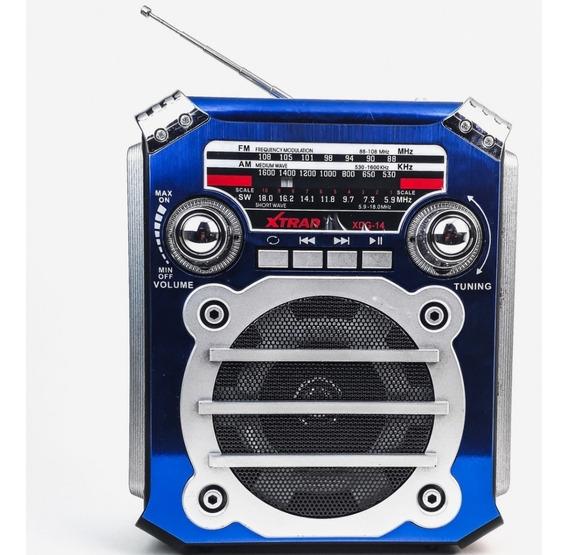 Caixa Som Rádio Retrô Vintage Bluetooth Mp3 Fm Am Portátil