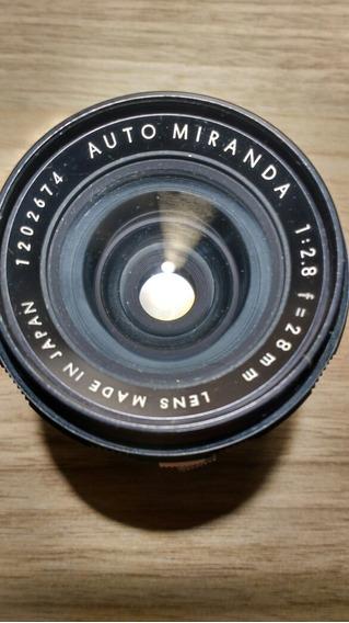 Lente Miranda 28mm 2.8 C/ Case Maravilhosa!