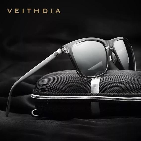 Óculos De Sol Veithdia Quadrado Masculino Feminino V6108