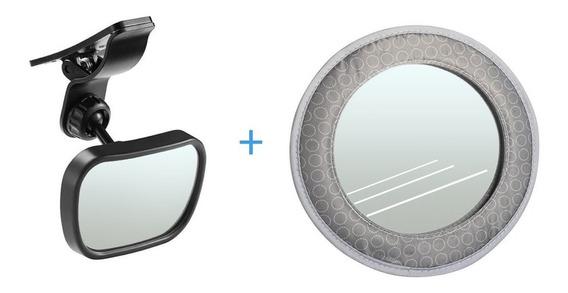 Kit Espelho Retrovisor Bebê Carro Para Brisa Ventosa 2 Em 1