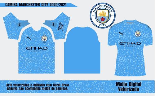 Arte Camisa Manchester City 2020 2021 Vetor Sublimacao Mercado Livre