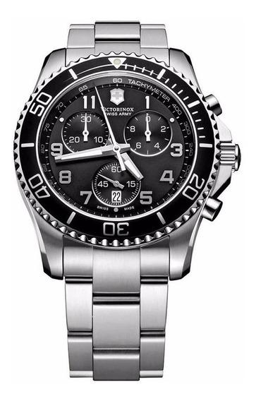 Relógio Victorinox 241695 Maverick Crono Prata Original