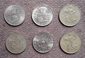 6 Moedas Comemorativas Itália. 200 Lire (81, 92, 93, 94, 96)
