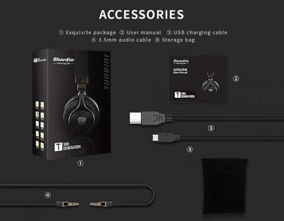 Fone Headphone Bluetooth Bluedio T+3 Rd Generarion