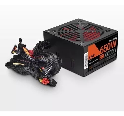 Fuente Pc 650w Lnz Sx650-fc 20+4 Pines Gamer Cooler 12 Envio